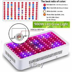 2 × 900w Led Grow Light Kits Full Spectrum Ampoules Lampe Pour Hydroponique Veg Fleur