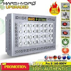 2 Mars Hydro Pro II 800w Led Grow Light Lamp Full Spectrum Ir Veg Intérieur Floraison