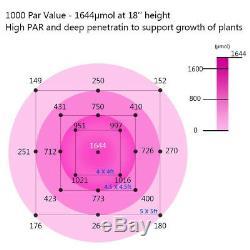 2000/4000 / 6000w Led Grow Light Full Spectrum Ir Plantes D'intérieur Panneau Veg Bloom États-unis