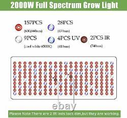 2000w Haute Puissance Led Grow Lights Full Spectrum Pour Toutes Les Plantes Intérieures Veg Flower