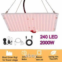 2000w Led Grow Light For Flower Stage Full Spectrum Indoor Plant Veg 240pcs Led