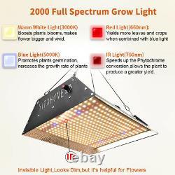 2000w Led Grow Light Sunlike Full Spectrum Veg Bloom Culturing Kit Hydroponics
