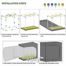 2000w Led Grow Light Veg Usine De Fleur + 4'x2' Hydroponique Grossir Kit Intérieur Tente