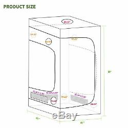 2000w Led Grow Light Veg Usine De Fleur Lumière + 4'x4' Hydroponique Grandir Kit Tente