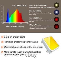 2000w Led Grow Plantes D'intérieur Lumière Veg Fleur Full Spectrum Veg Fleur Hydropon
