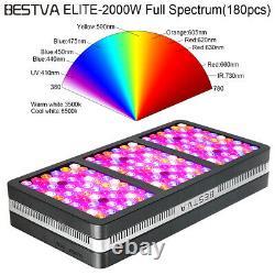 2000w Réflecteur Full Spectrum Intérieur Plante Veg Mode Bloom Grow Light Us Stock