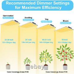2000w Samsung Lm301b Led Grow Light Sunlike Plein Spectre Pour Indoor Veg Flower