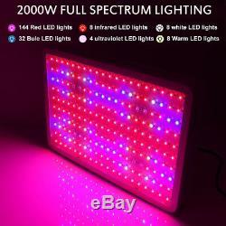 2000w Watt Led Grow Light Panel Full Spectrum Lampe Pour Vegs Fleurs De Plantes D'intérieur