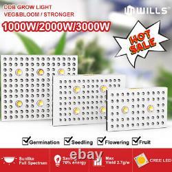 2000with3000w Cob Led Grow Light Full Spectrum Pour Tous D'intérieur Plante Veg Fleur