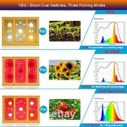 2500w Cob Led Grow Light Full Spectrum For Plants Veg&bloom Led Grow Lamp