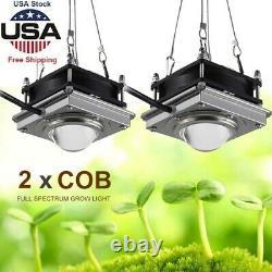 2pcs 3000w Cob Led Grow Light Full Spectrum Hydroponique Pour Plante Veg Lampe Fleur