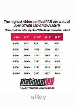 2pcs! Deux Avancée Platinum Series P300 Led 12-bande Se Développent Légère Veg / Flower