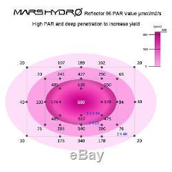 2pcs Mars Hydro Certifié Ul 600w Led Grow Light Full Spectrum Veg Fleurs D'intérieur