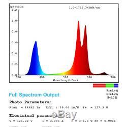 2pcs Mars Hydro Mars II 900w Led Lampes À Spectre Complet Veg Fleur Pour Plante