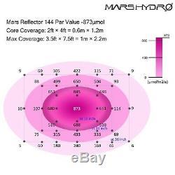 2pcs Mars Hydro Réflecteur 800w Led Lampes Full Spectrum Veg Bloom Ir Intérieur
