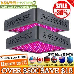 2pcs Mars II 900w Led Grow Light Full Spectrum Veg Bloom Pour Plantes D'intérieur