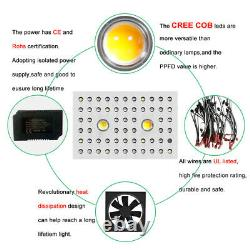 2x 1000w Led Cob Grow Light Cree Full Spectrum Avec Veg/bloom Switch Greenhouse