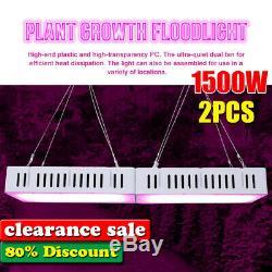 2x 1500w Led Grow Light Full Spectrum Pour L'intérieur Hydro Veg Flower Lamp Panel Des États-unis