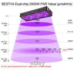 2x 2000w Bestva Full Spectrum Led Grow Light Pour Les Plantes De Fleurs Veg Bloom