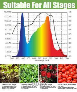 3000w 6xcree Cob Led De Croissance Lampe De Plantes Lumière Plein Spectre Fleur De Veg Hydroponique