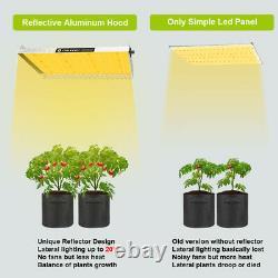 3000w Led Grow Light 5x5ft Plein Spectre Pour Les Plantes Intérieures Veg Fleur Dimmable