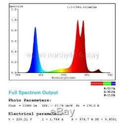 3mars Hydro Réflecteur 1000w Led Lampes À Spectre Complet Pour L'intérieur Veg Fleur