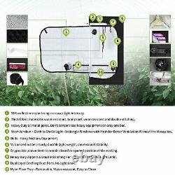 3x3 Ft Tente De Croissance + Veg Bloom 1000w Led Panneau Lumière Intérieure Complète Plantes Kit