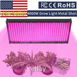 4000w Led Grow Light Full Spectrum Hydroponic Indoor Plants Veg Flower Panel