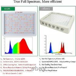 6000w Led Grow Light Lamp Full Spectrum Pour Plantes D'intérieur Veg Fleur + Daisy Chain