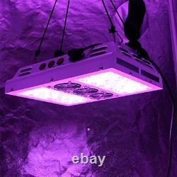 600w 12 Bandes Led Grow Light 3-switches Full Spectrum Indoor Plants Veg Flower
