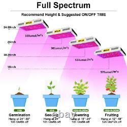 600w 1200w Led Grow Light Full Spectrum Double Interrupteur Veg/bloom Pour Plante Intérieure