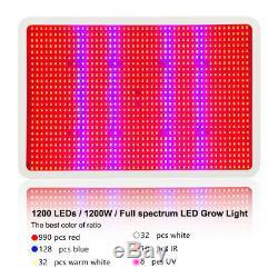 600w-1200w Led Grow Light Panel Intérieur Usine Full Spectrum Hydro Lampe Fleur Veg