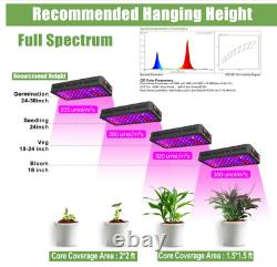 600w Full Spectrum Led Plant Grow Lights Lamp Indoor Greenhouse Veg Flower 2x2ft