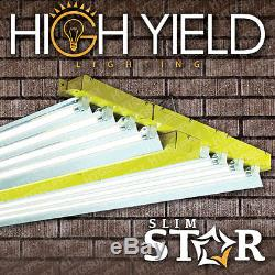 8 Lamp 4' T5 Grow Kit De Lumière W Huit Ampoules Veg & Bloom Mélanger 4 Ft Pied 6500 3000 Ho