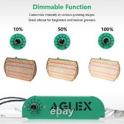 Aglex 2000w Led Grow Light Full Spectrum Lampe Hydroponique Plante Veg Fleur 2pcs