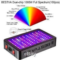 Bestva 1000w Led Grow Light Full Spectrum Plantes D'intérieur Veg Bloom Us Stock