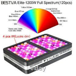 Bestva 1200w Usine De Led Grow Light Full Spectrum Pour Effet De Serre Veg Fleurs