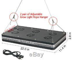 Bestva Réflecteur 2000w Full Spectrum Hydro Led Grow Light Veg Bloom Commutateur