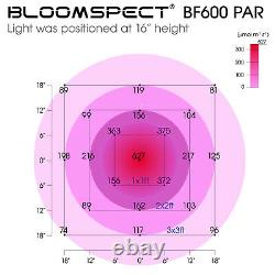 Bloomspect 600w Led Grow Light Full Spectrum With Reflector Veg&bloom Switches