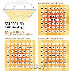 Bloomspect Ss1000 Led Grow Light Full Spectrum Pour Plantes D'intérieur Veg Fleurs
