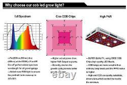 Crie Cob Led Grow Lights 2000w Full Spectrum Avec Veg & Bloom Pour Hydroponique Us