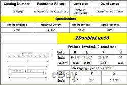 Durolux T5 Ho Croître En Acier Léger, 2 Pi 16 Ampoules Fluorescentes Dl8216st Bloom Veg