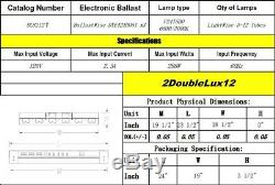 Durolux T5 Ho Élèvent La Lumière 2 Pi 12 Ampoules Dl8212t Luminaire Fluorescent Acier, Veg