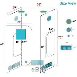 Eco 600w Led Grow Light Veg Fleur Lampe Plante + 39 × 39 × 70 Grossir Kit Intérieur Tente