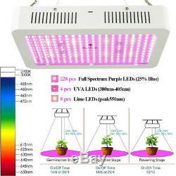 Ensemble De 2 2500w Led Grow Light Full Spectrum Pour Tous D'intérieur Plante Veg Lampe Fleur