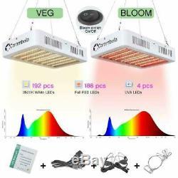 Ensemble De 2 5000w Led Grow Light Full Spectrum Pour Plantes D'intérieur 384 Led Veg Switch