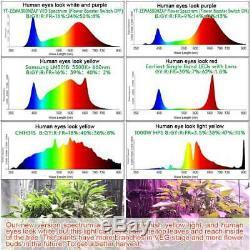 Ensemble De 2 8000w Led Grow Light Full Spectrum Intérieur Hydroponique Veg Usine De Fleur