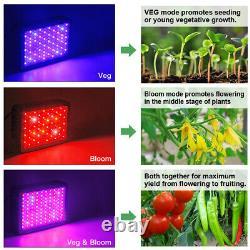 Famurs 1000w Triple Chips Led Grow Light Full Spectrum Veg And Bloom Switches