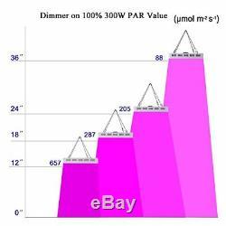 Galaxyhydro Dimmable Led Grow Light 300w Plantes D'intérieur Lumières Uv Ir Veg Fleur