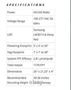 Hlg 650r Quantum Conseil Horticulture Éclairage Groupe Led Grow Light Veg Bloom